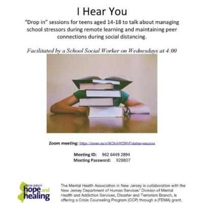 I Hear You - Drop-in Sessions for Teens